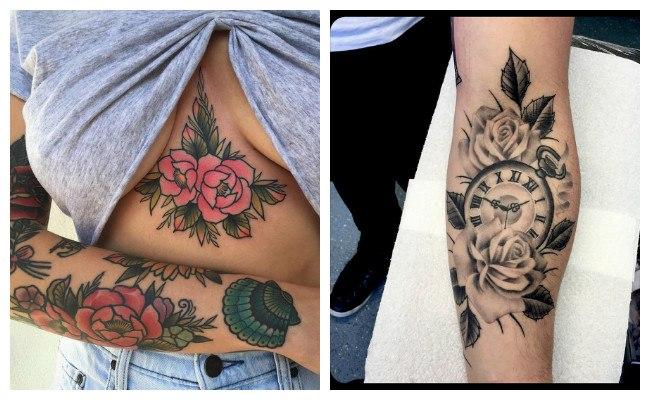 Tatuajes de rosas para mujeres