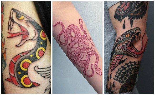 Tatuajes de serpientes aztecas