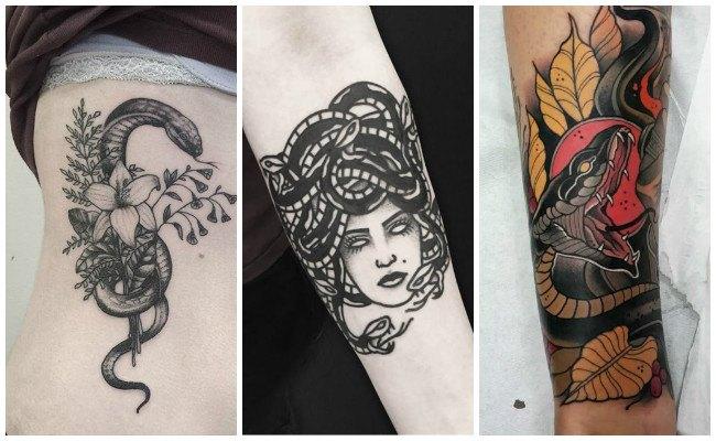 Tatuajes de serpientes en el brazo