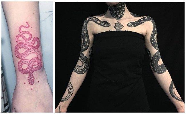 Tatuajes de serpientes tribales