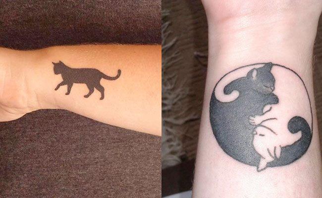 Tatuajes De Gatos Egipcios Pequeños Realistas Hombre Y Mujer