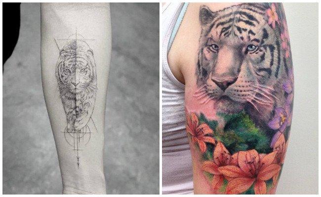 Tatuajes de tigres blancos
