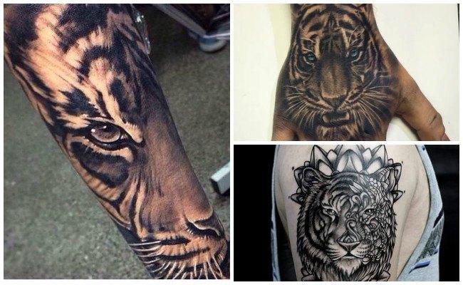 Tatuajes de tigres en el brazo