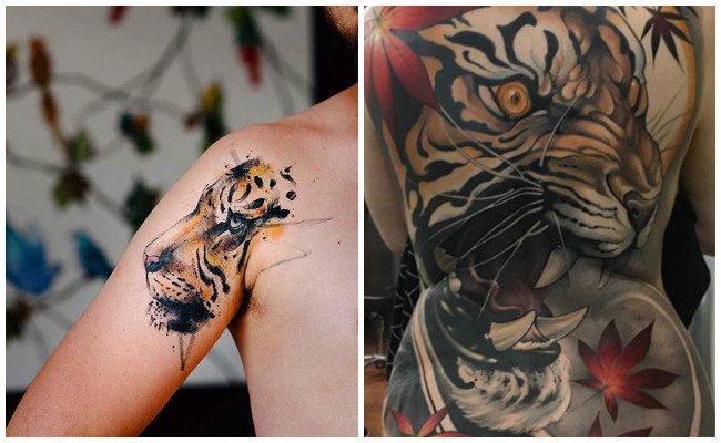 Tatuajes de tigres para chica