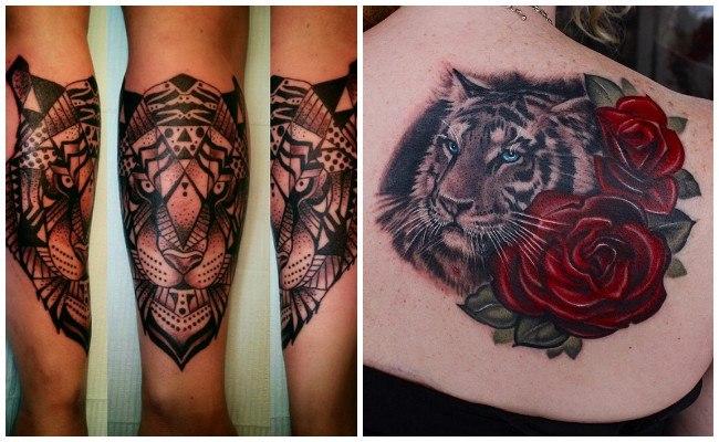 Tatuajes de tigres chinos