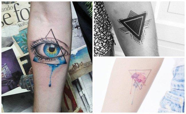 Tatuajes de triángulos en el brazo