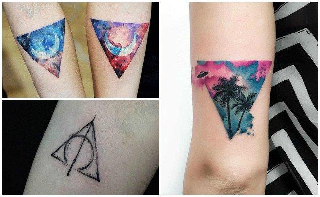 Tatuajes de triángulos de galaxia