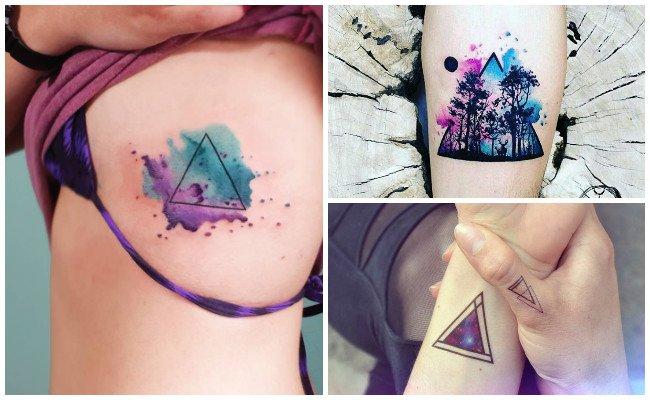 Tatuajes de triángulos hacia abajo