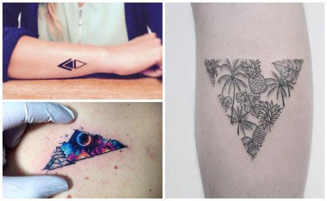 Tatuajes de triángulos de harry potter
