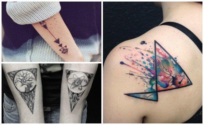 Tatuajes de triángulos hipster