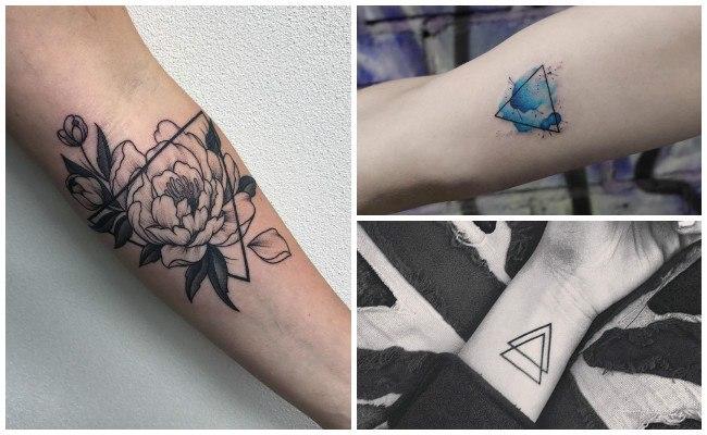 Tatuajes de triángulos con imágenes