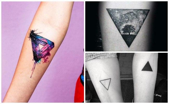 Tatuajes de triángulos invertidos