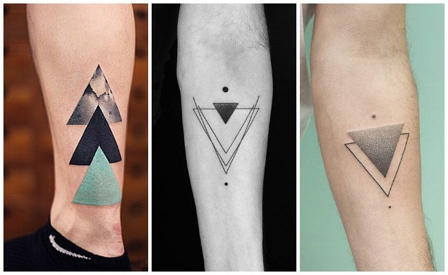 Tatuajes de triángulos minimalistas