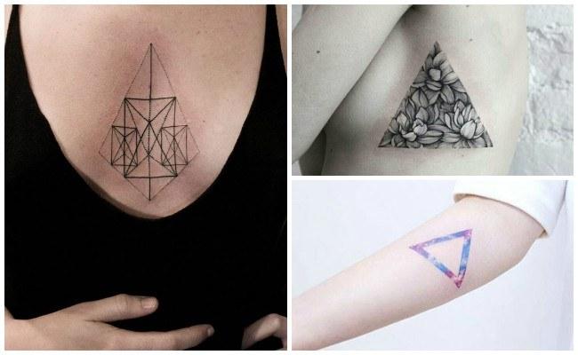 Tatuajes de triángulos para mujeres