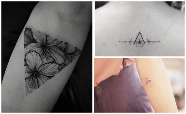 Tatuajes de triángulos en la muñeca