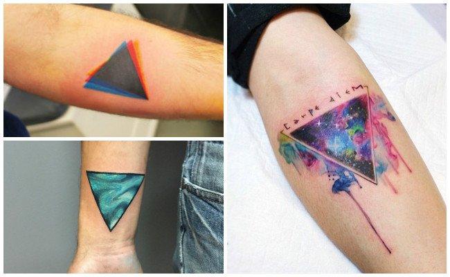Tatuajes de triángulos unidos