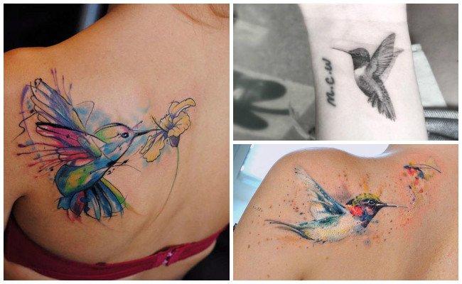 Tatuajes de un colibrí