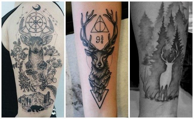 Tatuajes de venados en 3d
