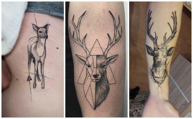 Tatuajes de cráneos de venados