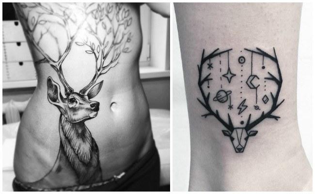 Tatuajes de venados tribales