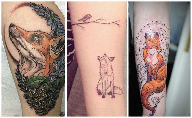 Tatuajes de zorros en 3d