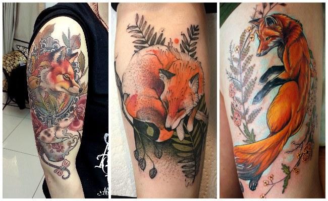 Tatuajes de zorros de cuento
