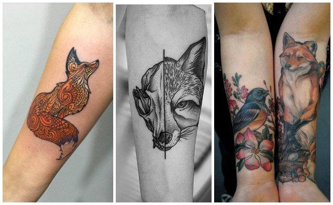 Tatuajes de zorros en la muñeca