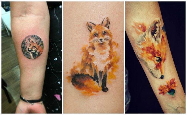 Tatuajes de zorros para hombres