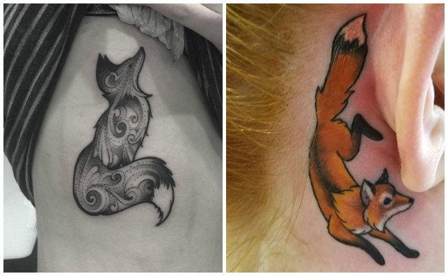 Tatuajes de zorros pequeños