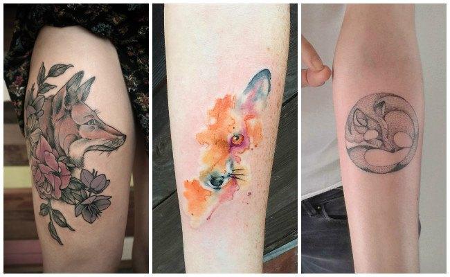 Tatuajes de zorros en el pie