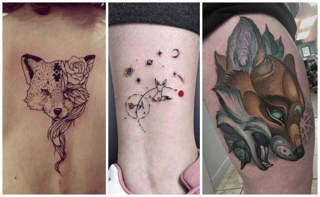 Tatuajes de zorros en realismo