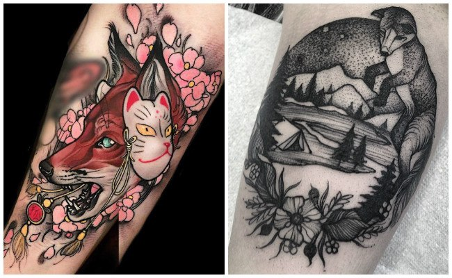 Tatuajes de zorros rojos