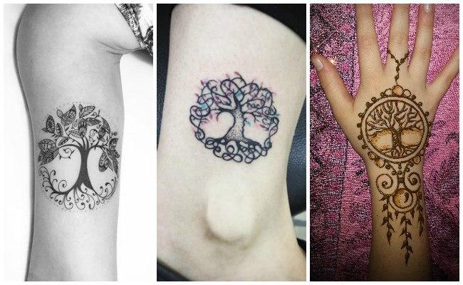 Tatuajes del árbol de la vida en las costillas