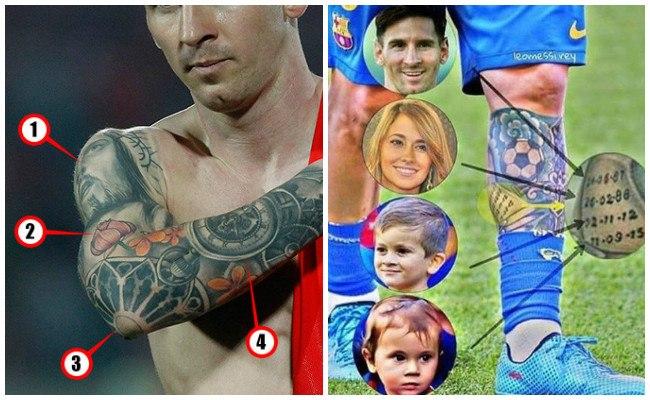 Tatuajes del brazo de messi