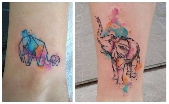 Tatuajes elefante geométrico