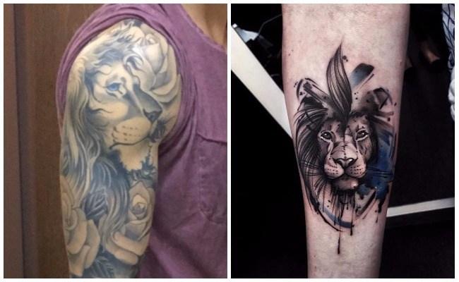 Tatuajes en 3d de leones