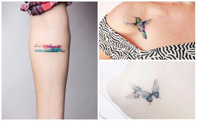 Tatuajes de acuarela nombres