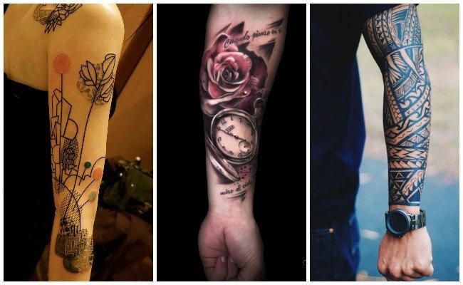 Tatuajes en el brazo y el antebrazo para mujeres y hombres