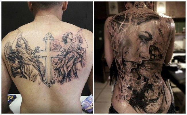 Tatuajes en la espalda delicados