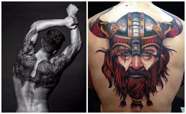 Tatuajes en la espalda con estrellas