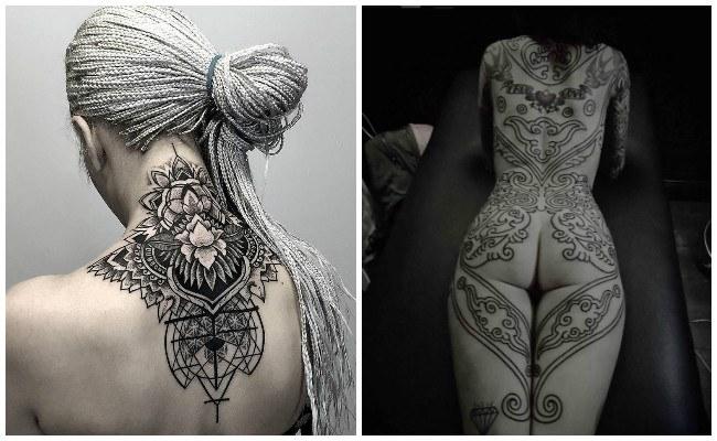 Tatuajes en la espalda alta
