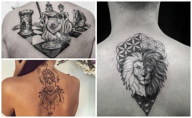 Tatuajes en la espalda con flores