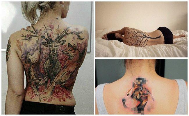 Tatuajes en la espalda y sus fotos