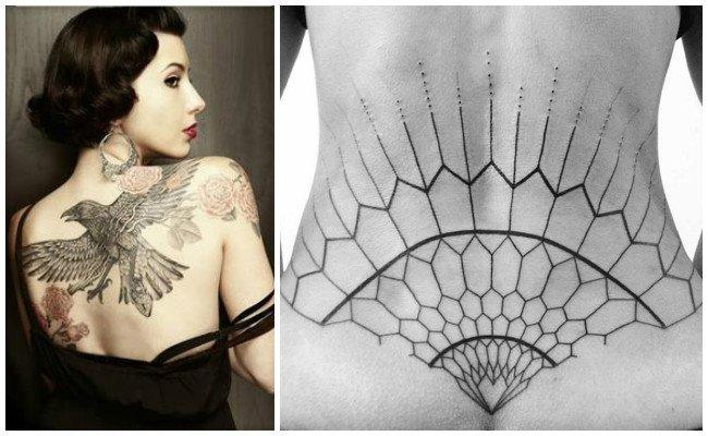 Tatuajes en la espalda de hombres
