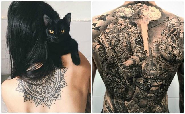 Tatuajes en la espalda con rosas