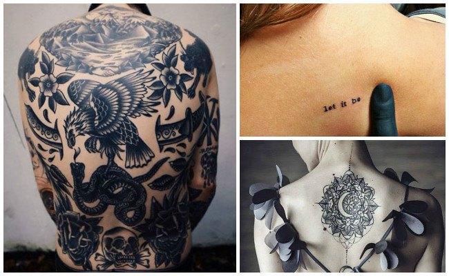 Tatuajes en la espalda con tribales