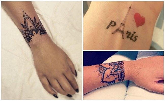 Tatuajes en la muñeca con rosas