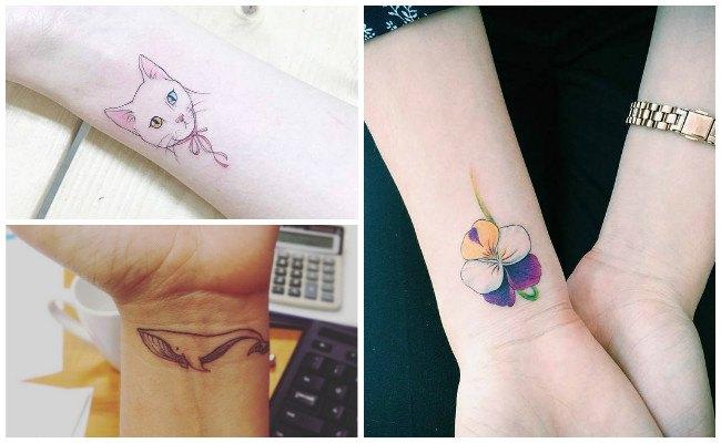 Tatuajes en la muñeca de corazón