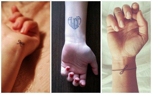 Tatuajes en la muñeca con iniciales