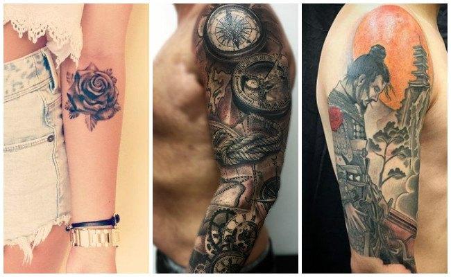 Tatuajes en todo el antebrazo